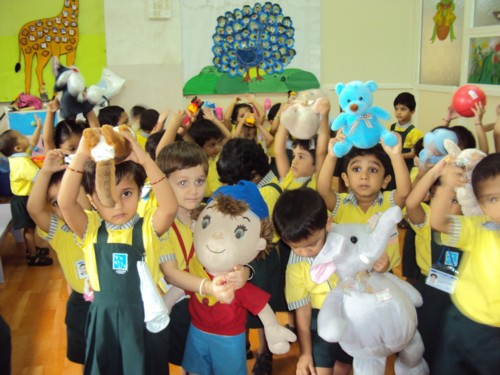 Students on Toy Day